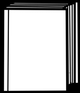 258x299 Closed Book Outline Clip Art