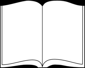 299x240 Open Book Outline Clip Art