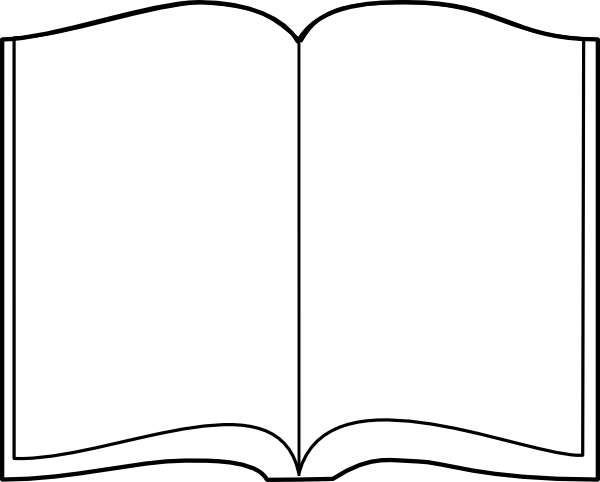600x482 Open Book Outline Clipart Free Images 4