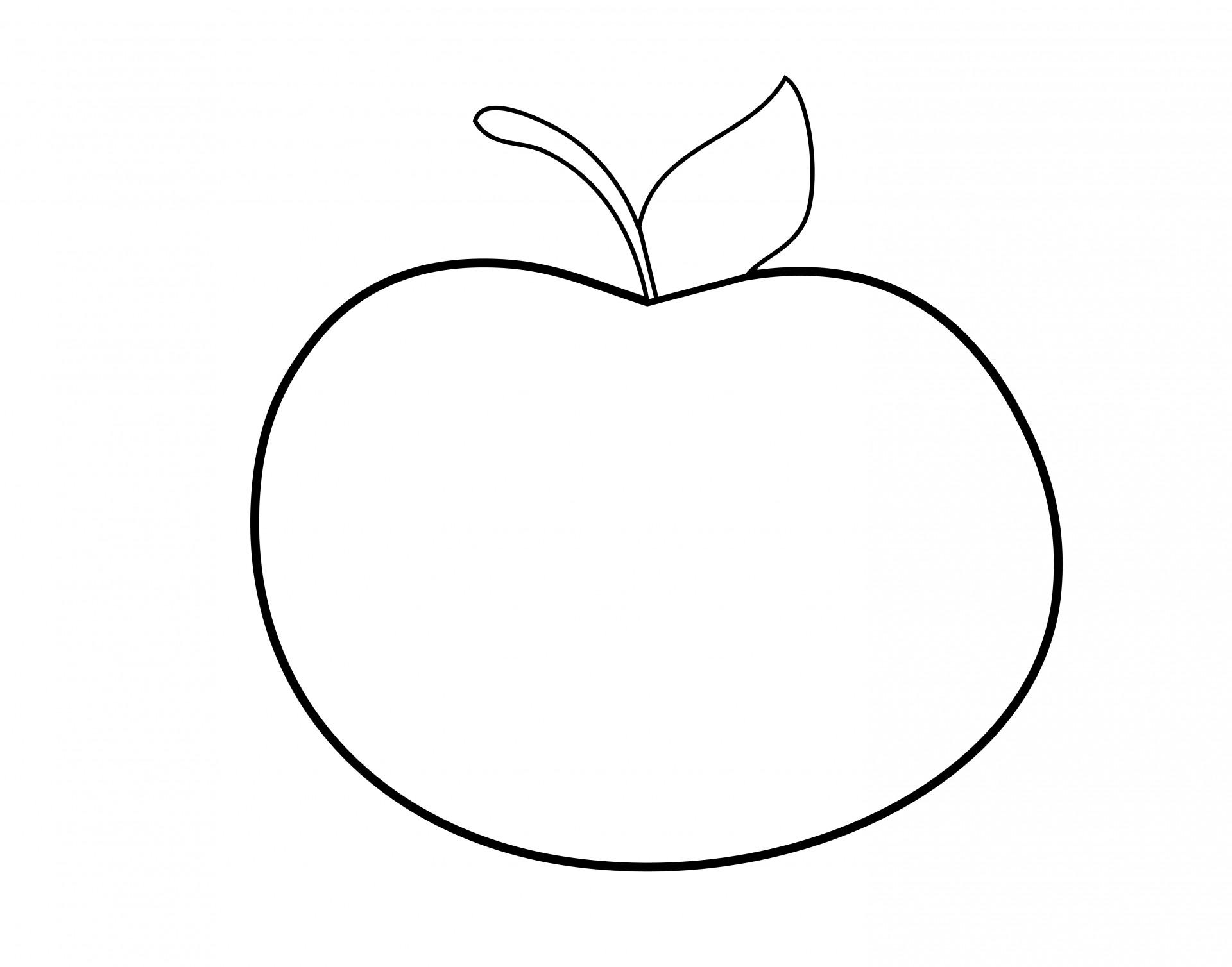 1920x1508 Apple Outline Clipart Free Stock Photo