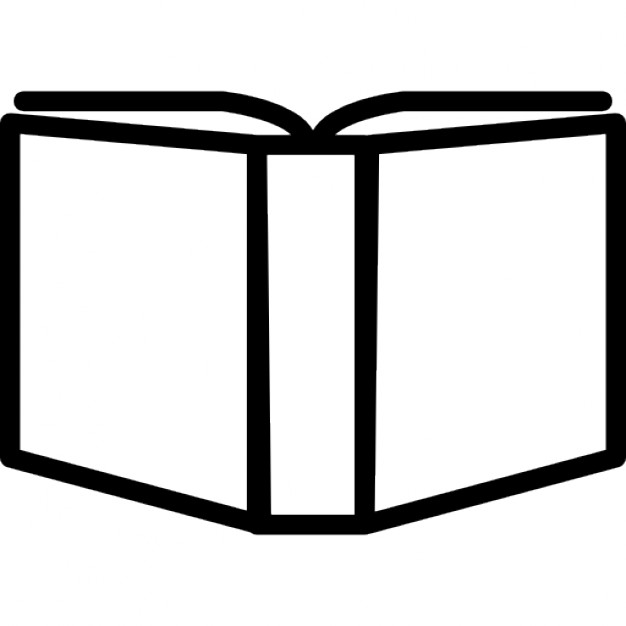 626x626 Open Book Outline Variant Inside A Circle Icons Free Download