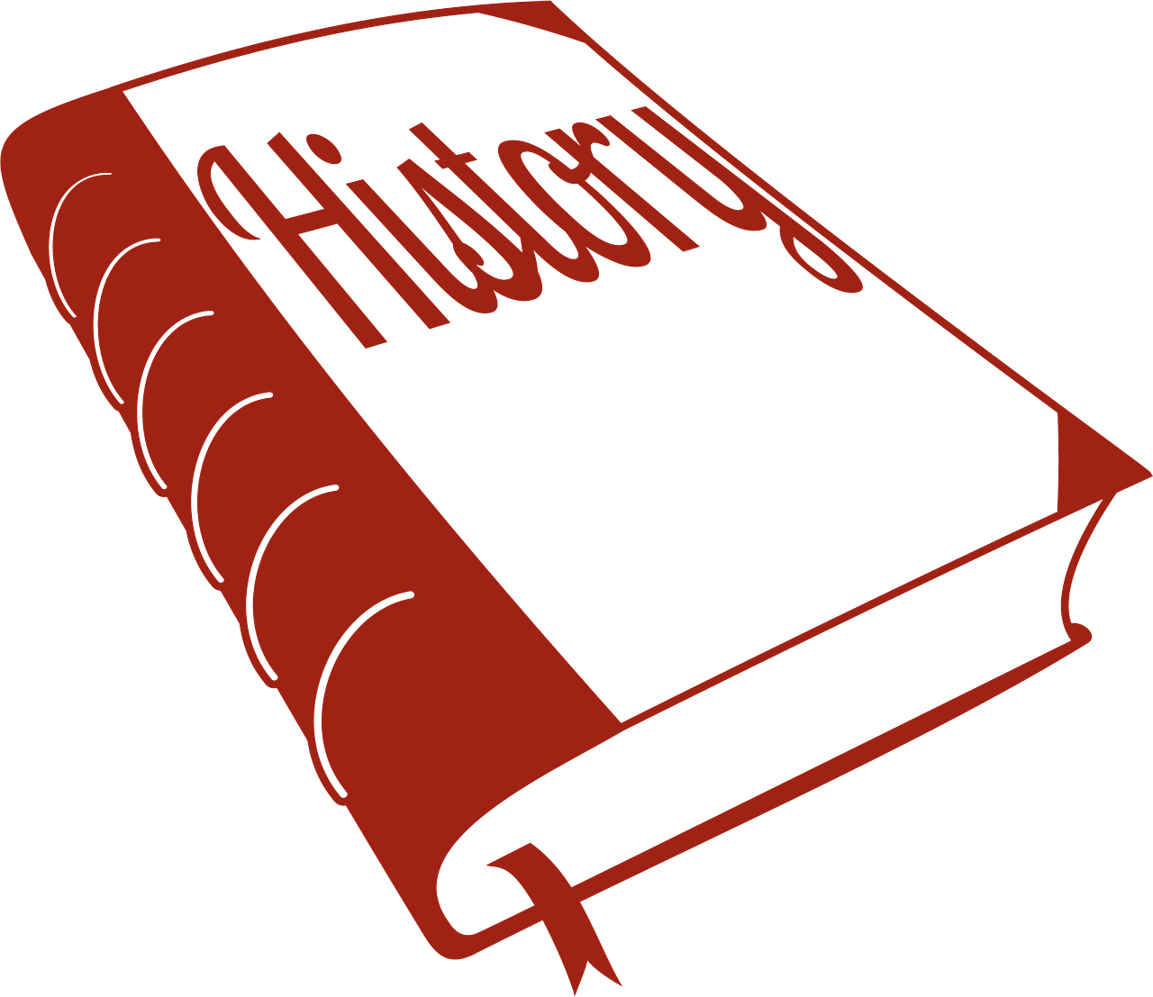 1280x1107 Outline Red History Book Clipart