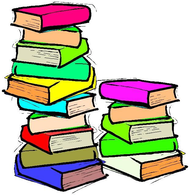 622x640 Book Clipart Stacked