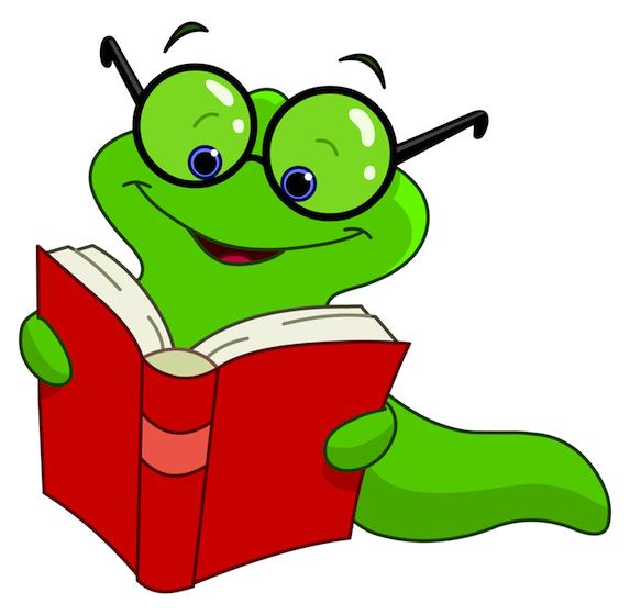 573x560 Cute Book Worm Clipart