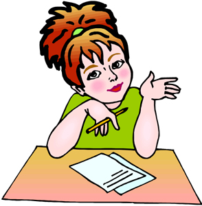 294x300 Writing Cliparts Girls