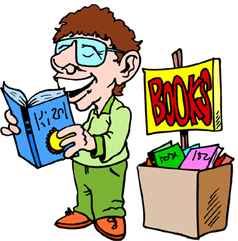 346x350 Used Book Sale Clipart