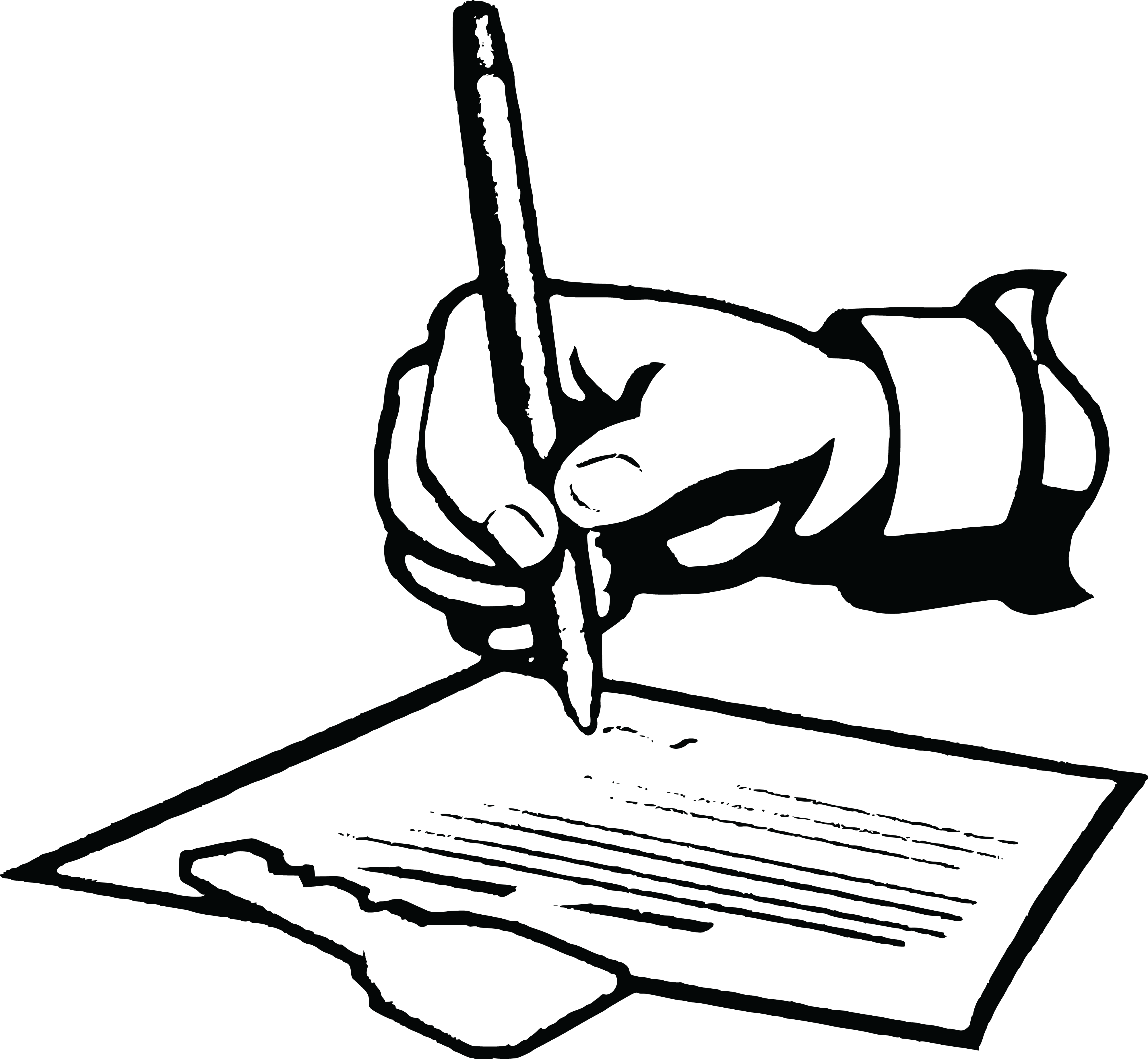 4000x3690 Free Clipart Of A Hand Signing A Lease