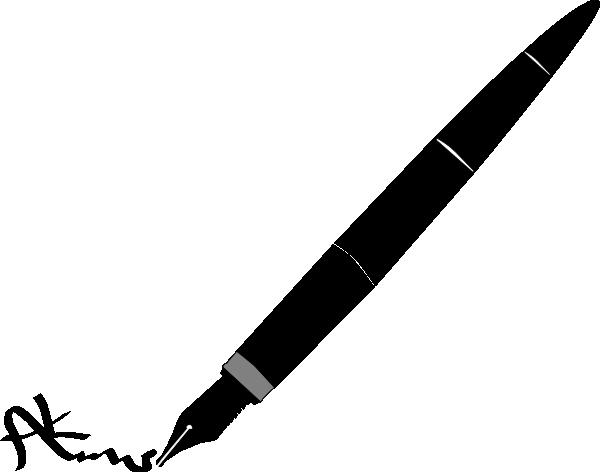 600x472 Pen Signature Clip Art