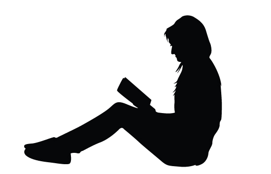550x354 Women Reading Books Silhouette Vector Free Download Women Vector