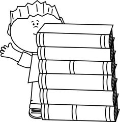 236x241 Black And White Stack Of Books Printables Books