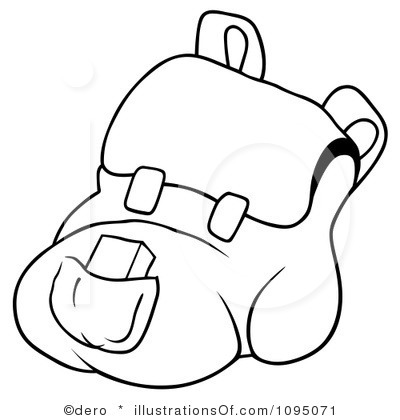 400x420 Backpack Clipart Royalty Free Backpack Clipart Illustration