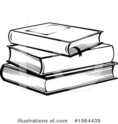 Books Black And White Clipart