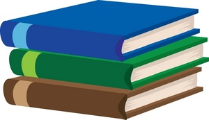 300x173 Free Stack Of Books Clipart Image