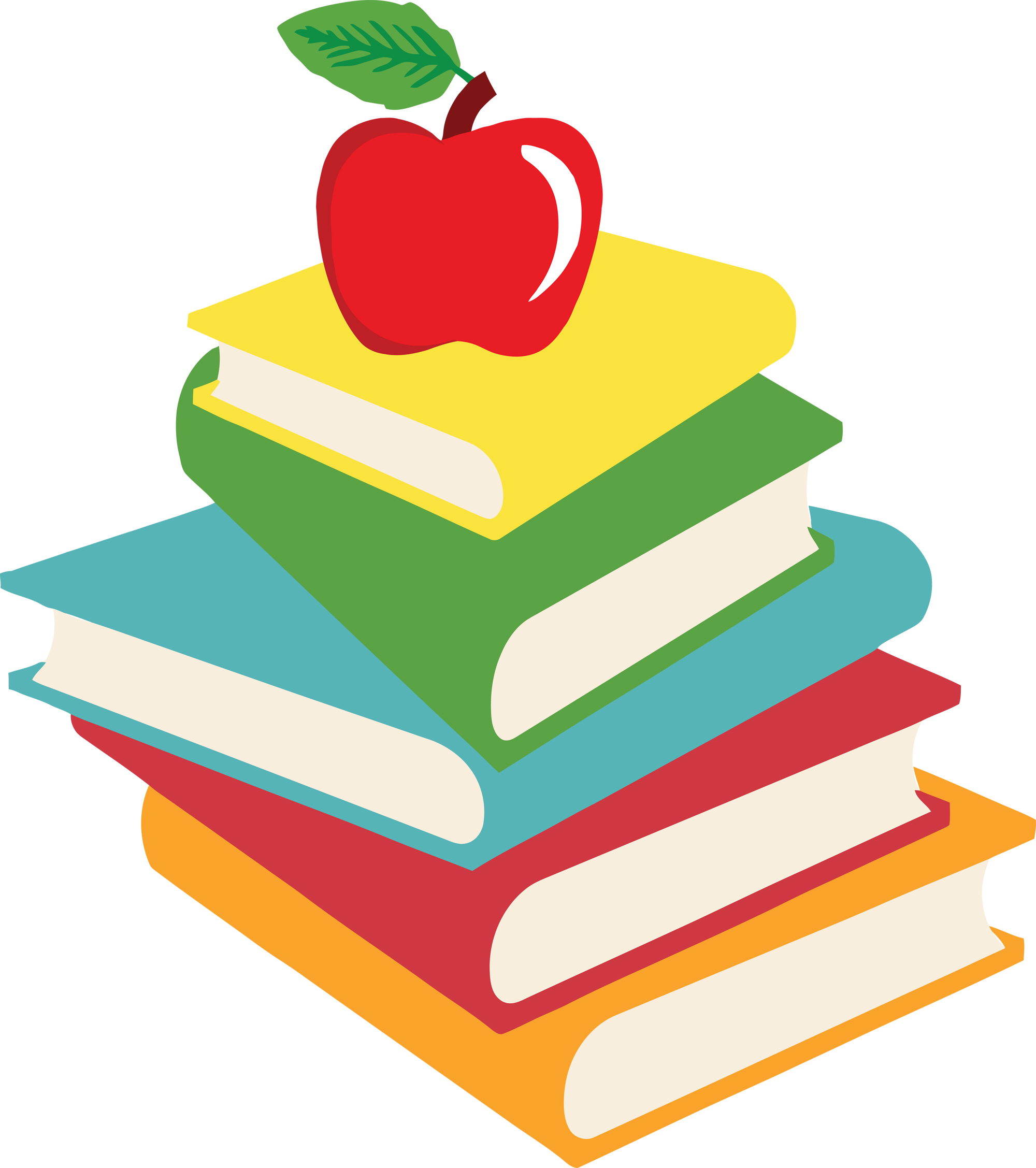 2000x2255 School Books Clipart