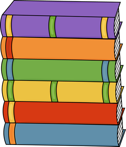 426x500 Tall Stack Of Books Clip Art