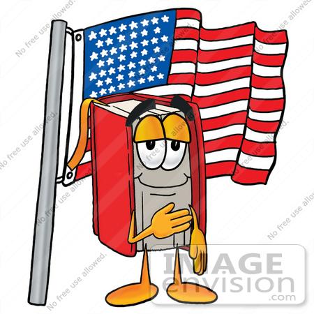 450x450 Clip Art Graphic Of A Book Cartoon Character Pledging Allegiance