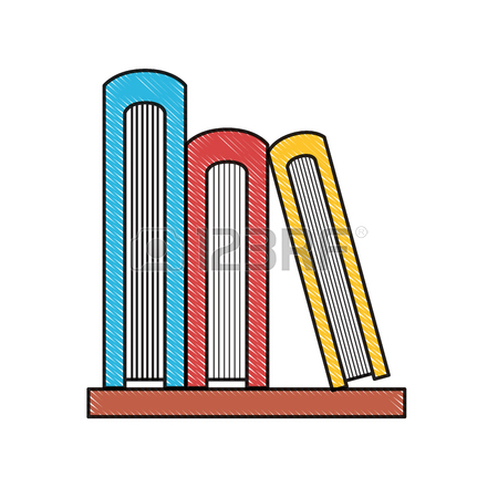 Books On A Shelf Clipart