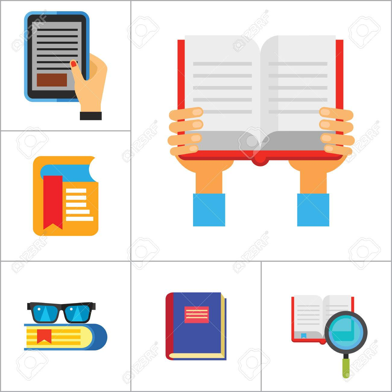 1300x1300 Book Icon Set. Book And Magnifier Book In Hands Book With Glasses