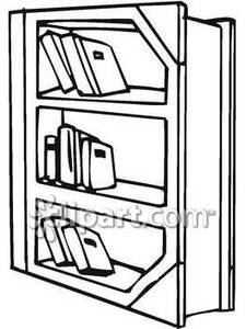225x300 Bookshelf Clipart Black And White Letters Example