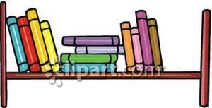 300x153 Bookshelves Clipart