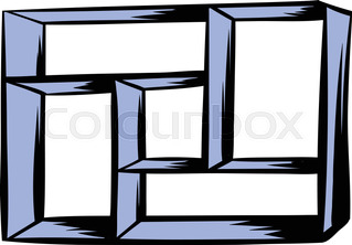 319x222 Cartoon Home Furniture Book Shelf Isolated On White Background