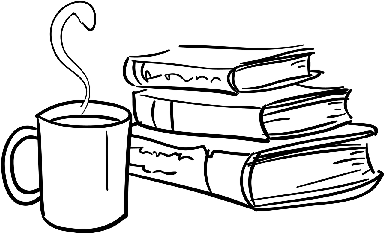 1280x779 Book Clipart Coffee