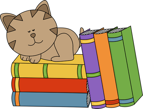 500x381 Cats And Books Clip Art Cliparts