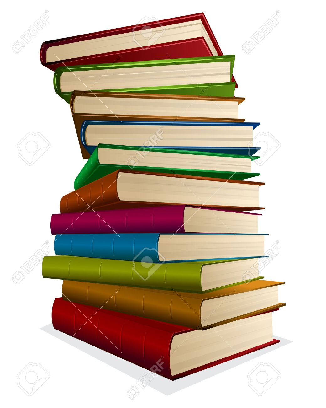 1040x1300 Illustration Pile Of Books Isolated On White Royalty Free Cliparts