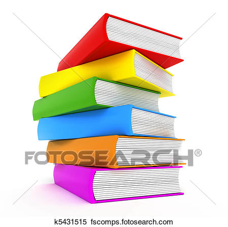 450x447 Stock Illustration Of Books Rainbow Over White K5431515