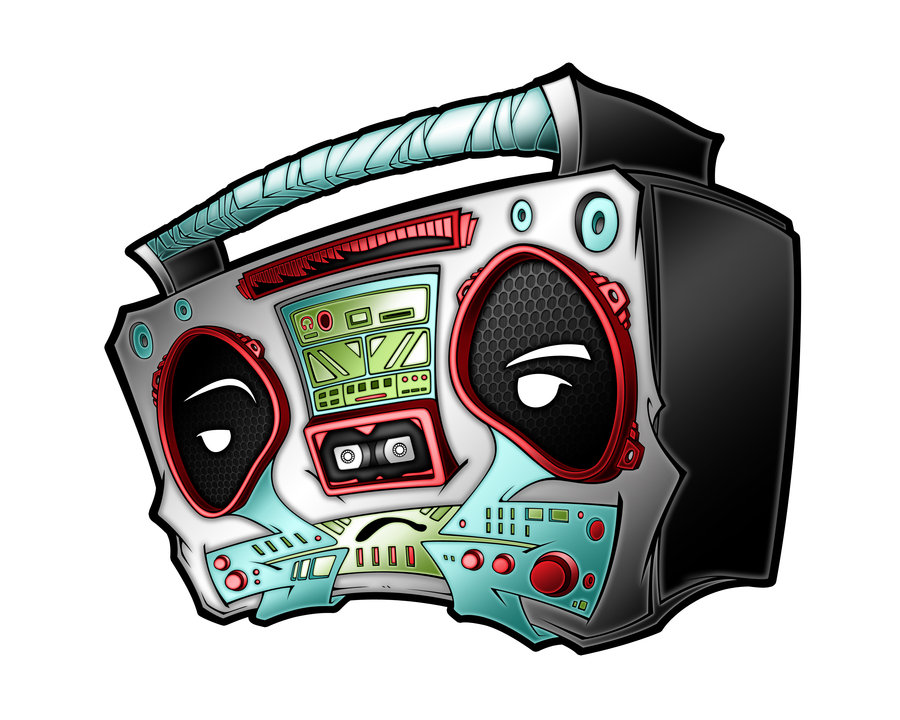 900x720 Boombox By Pnutink