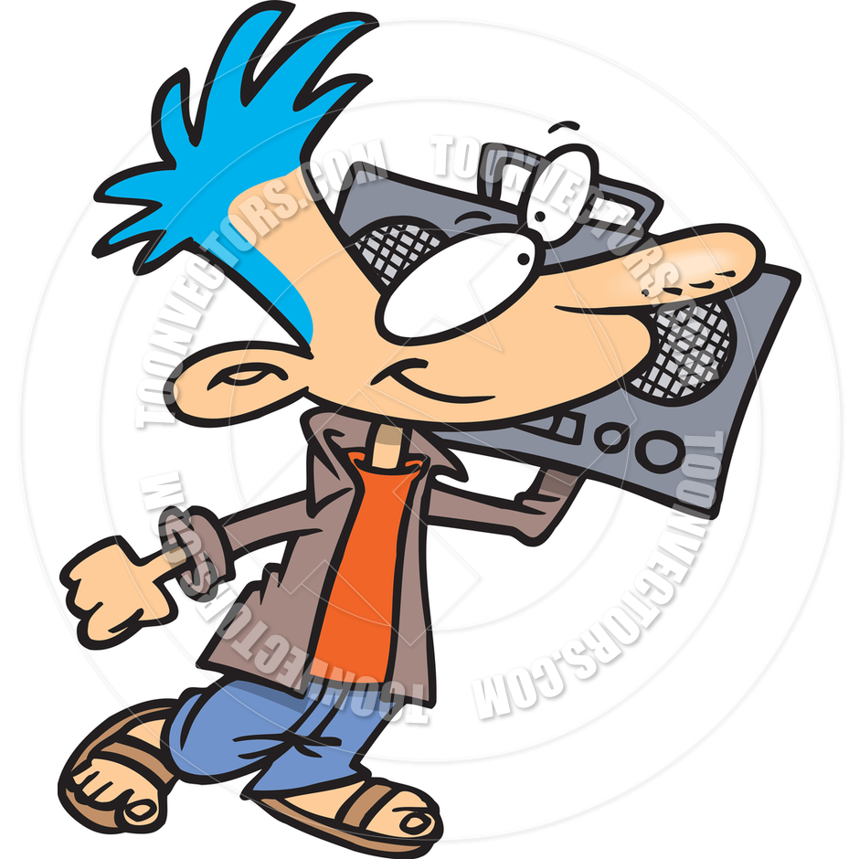940x940 Cartoon Boombox By Ron Leishman Toon Vectors Eps