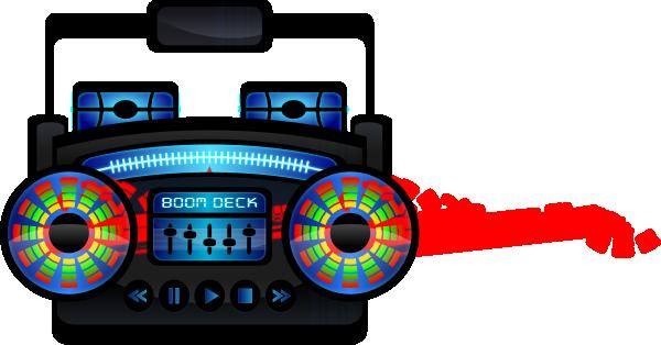 600x314 Mini Boom Box Clip Art