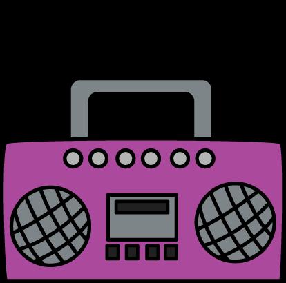 414x410 Purple Boombox Clip Art Image Clipart Panda