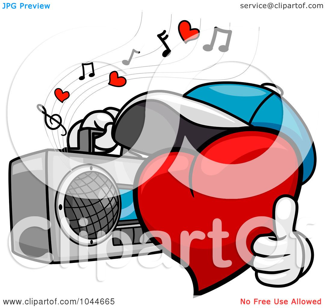 1080x1024 Royalty Free (Rf) Clip Art Illustration Of A Heart Character