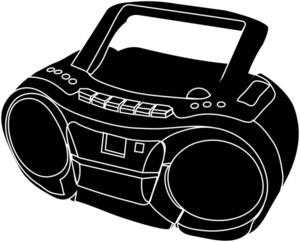 300x242 Small Boombox Clip Art Cliparts