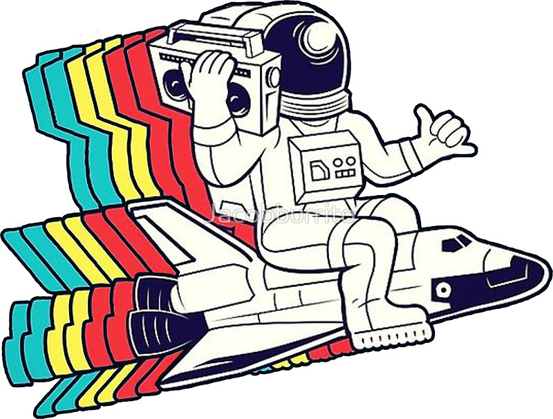800x606 Spaceman Boombox Stickers By Jacobburrito Redbubble