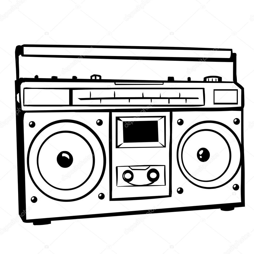 1024x1024 Vector Tape Recorder Stock Vector Nikiteev