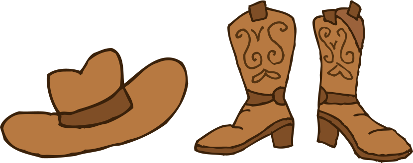 830x329 Cowboy Hat Clipart