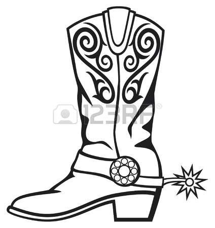 424x450 Cowboy Boot Clipart