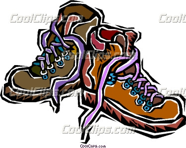 375x300 Hiking Clipart Walking Boot