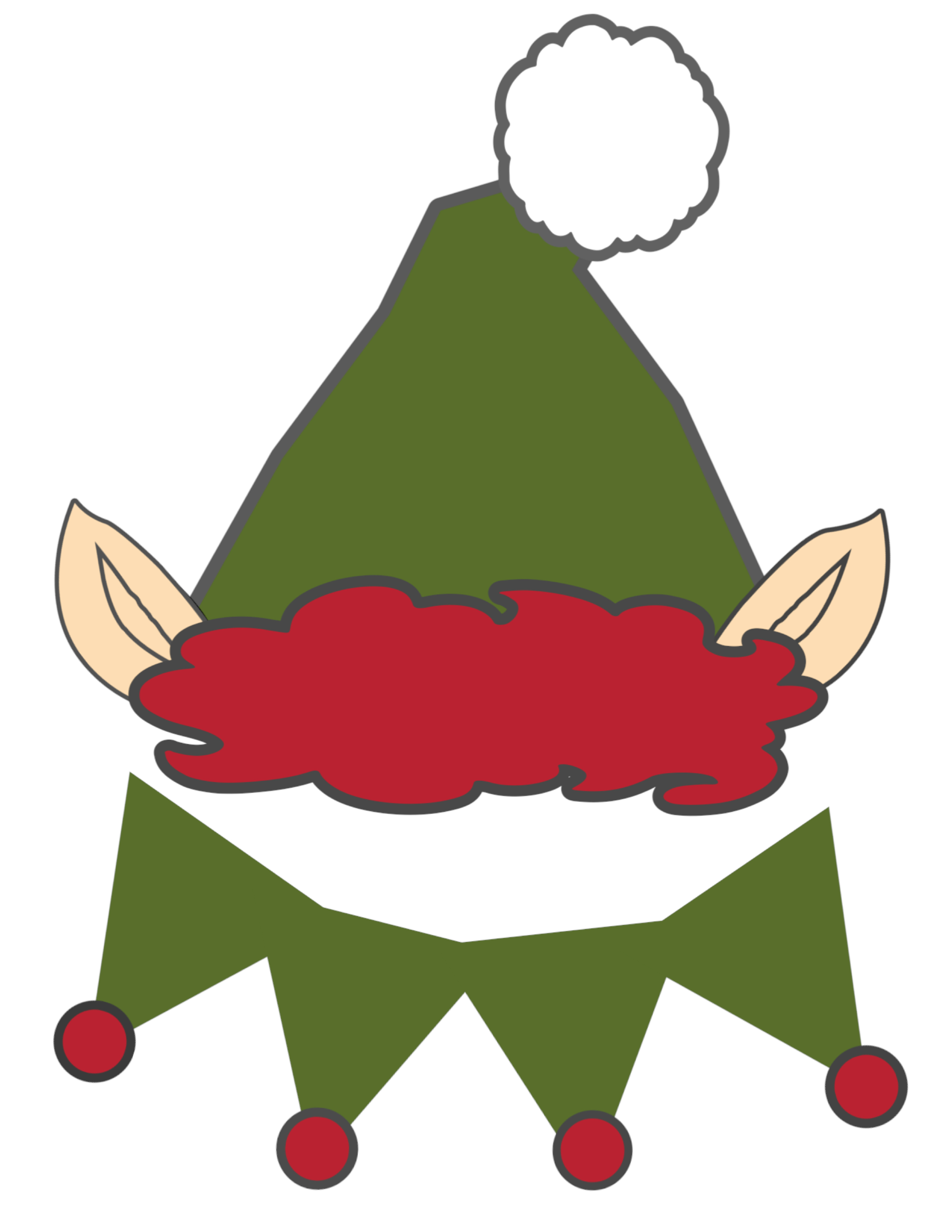 2125x2750 Elf Hat Template Printable