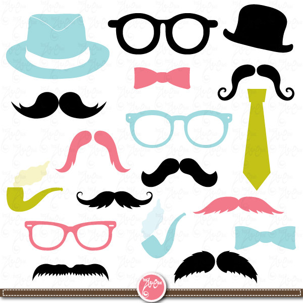 600x600 Mustaches Clip Art,spectacles, Photo Booth Printables,tie, Best