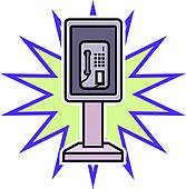 167x170 Phone Booth Clip Art