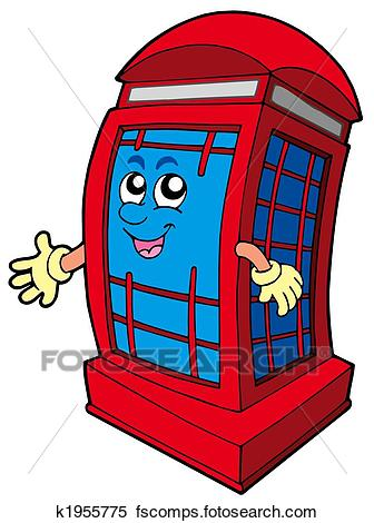 336x470 Stock Illustration Of English Red Phone Booth K1955775