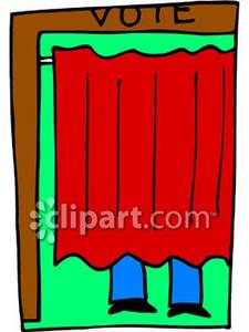 225x300 Voting Booth Clip Art Cliparts