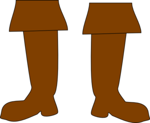 300x246 Brown Pirate Boots Clip Art