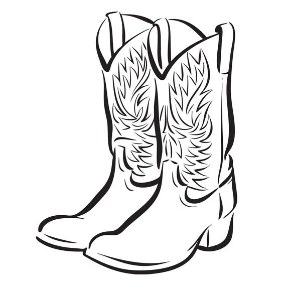 576x576 Clip Art Western Boots Clipart