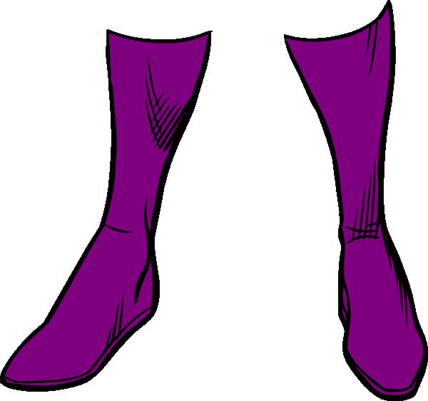 600x562 Purple Boots Clip Art