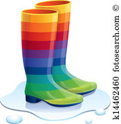 175x179 Rain Boots Clipart