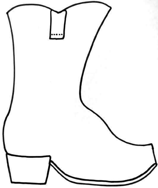 532x630 Cowboy Boots Clipart Black And White Cowboy Clip Art Image 2